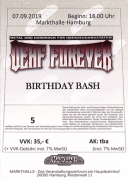 DEAF FOREVER BIRTHDAY BASH